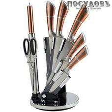 Alpenkok AK-2090 ножи в наборе (5 ножей; мусат; ножницы кухонные; подставка), сталь нержавеющая, 8 пр.