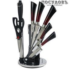 Alpenkok AK-2092 ножи в наборе (5 ножей; мусат; ножницы кухонные; подставка), сталь нержавеющая, 8 пр.