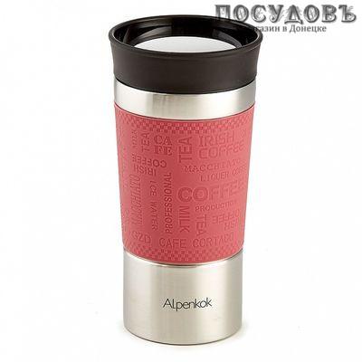 Alpenkok AK-04039A термокружка 400 мл, колба сталь нержавеющая, розовый цвет