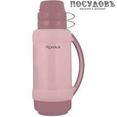 Alpenkok AK-10024S термос, колба стеклянная 1000 мл, корпус пластик светло-розовый