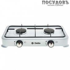 Delta D-2206 плита газовая отдельностоящая, 2-конфорочная, эмалированное покрытие, цвет белый