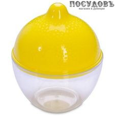 Мартика Люмици С589 лимонница с крышкой, цвет желтый, Ø90×105 мм, полистирол