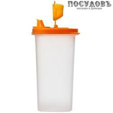 Полимербыт 7886 емкость для масла с крышкой-дозатором, полипропилен, 90×90×172 мм, 500 мл