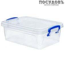 Эльфпласт Fresh Box Slim 239 контейнер с крышкой, полипропилен, 215×145×72 мм, 1200 мл