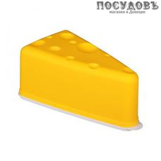 Альтернатива М4672 контейнер для сыра с крышкой, цвет желтый, 195×105×80 мм, полипропилен