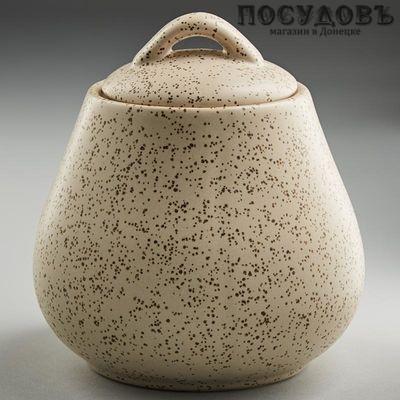 Rosario Ф19-021E сахарница с крышкой, керамика, 600 мл