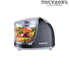 Centek CT-1390 измельчитель 300 Вт, чаша пластиковая 350 мл, одна пара ножей, цвет черный