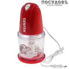 Centek CT-1391 измельчитель 350 Вт, чаша пластиковая 500 мл, одна пара ножей, цвет красный
