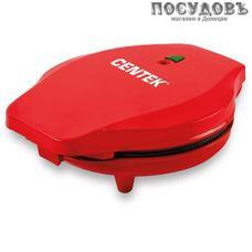 Centek CT-1441 вафельница электрическая Ø200 мм, 700 Вт, конус для вафли, цвет красный