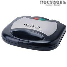 Centek CT-1448 сэндвичница-гриль 226×148 мм, 800 Вт, цвет металлик с черным