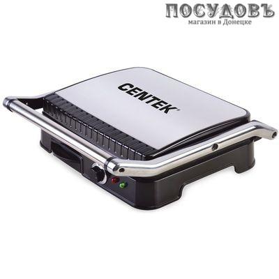 Centek CT-1464 гриль электрический 297×235 мм, 2000 Вт, цвет металлик с черным