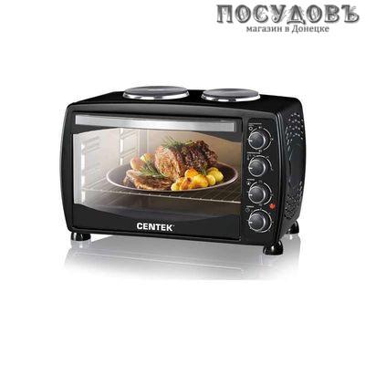 Centek CT-1531-42 PLATE электрическая печь отдельностоящая 1600 Вт 42 л, 2 конфорки, черная