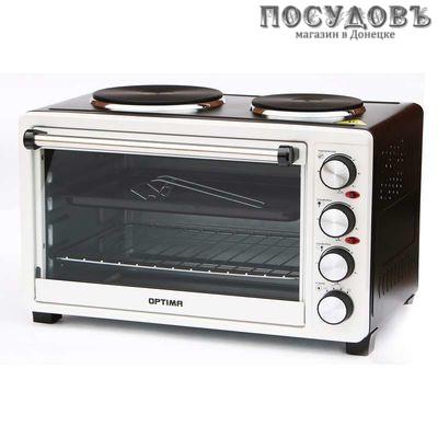 Optima ОH-302 Bl/R электрическая печь отдельностоящая 3100 Вт 30 л, 2 конфорки, черно-красный