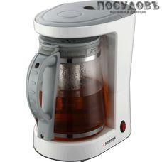 Aurora AU411 кофеварка капельная, 680 Вт, 1200 мл, цвет белый