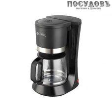 Centek CT-1141 кофеварка капельная, 800 Вт, 1200 мл, цвет черный