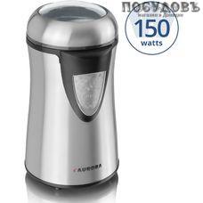 Aurora AU147 кофемолка электрическая, 150 Вт, чаша из нержавеющей стали 75 г, цвет стальной