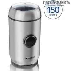 Aurora AU3443 кофемолка электрическая, 150 Вт, чаша из нержавеющей стали 50 г, цвет стальной