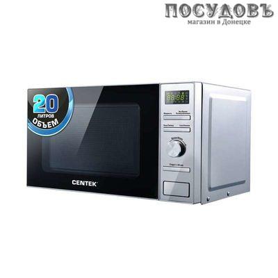 Centek CT-1586 микроволновая печь отдельностоящая 700 Вт, 20 л, цвет стальной