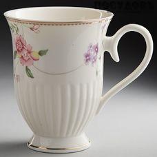 """Beatrix """"Флориана"""" МР016L1 кружка подарочная, цвет белая с рисунком, 350 мл, фарфор, Китай, в подарочной упаковке 1 шт"""