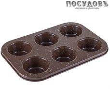 HITT Choco H-CH-115 форма для выпечки кексов, сталь углеродистая, антипригарное покрытие, 245×170 мм