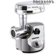 Centek CT-1614 мясорубка электрическая с насадками 2500 Вт 1 скорость, реверс есть, 2,4 кг/мин, корпус металл, цвет стальной