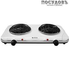 Centek CT-1501 плита электрическая, 2-конфорочная, 2000 Вт, эмалированное покрытие, цвет белый