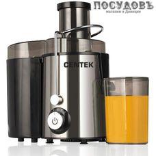 Centek CT-1209 cоковыжималка электрическая, 600 Вт, горловина 65 мм, стакан 600 мл, под мякоть 1000 мл