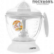 Centek CT-1230 cоковыжималка электрическая для цитрусовых, 40 Вт, 1200 мл