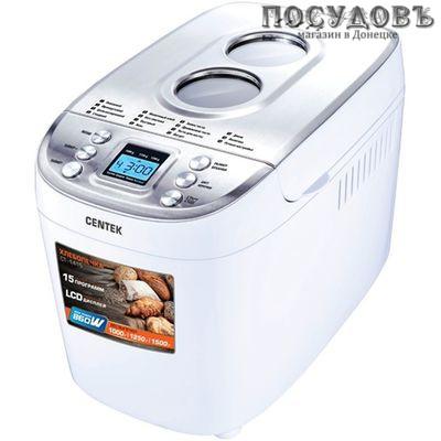 Centek CT-1415 хлебопечь, 860 Вт (1500 г) антипригарное покрытие, 15 программ, цвет белый