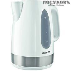 Scarlett SC-1028 электрочайник, 2000 Вт, 1700 мл, пластик, цвет белый