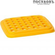 IDEA М1205 квадратная форма для 35 пельменей, 255×30×28 мм, полистирол, желтый цвет, Россия, в упаковке 1 шт.