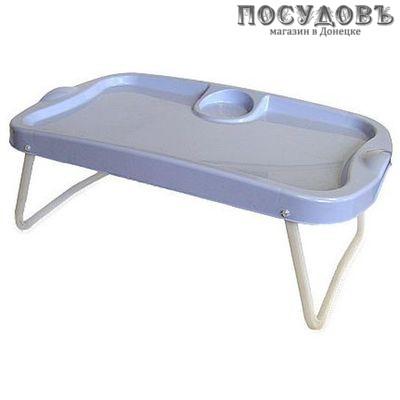 Полимербыт 4310000 поднос-столик, полипропилен, 570×335×50 мм, голубой