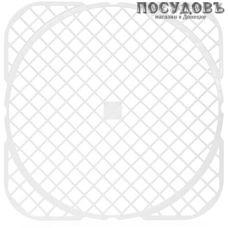 Полимербыт 21600, квадратная решетка в раковину, полипропилен, 330×330×4 мм