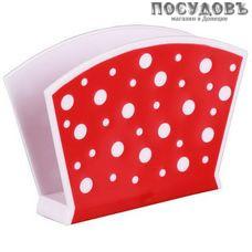 Альтернатива Горошек М3690 салфетница, полипропилен, цвет бело-красный