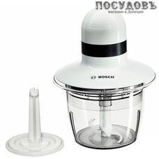 Bosch MMR08A1 измельчитель 400 Вт, чаша пластиковая 800 мл, одна пара ножей, цвет белый