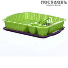 Starplast 94039 сушилка для посуды с поддоном, пластик, 400×300×80 мм, цвет зеленый, Азербайджан, 2 пр.