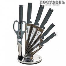 Webber BE-2260N ножи в наборе (5 ножей; мусат; ножницы кухонные; подставка), сталь нержавеющая, 8 пр.