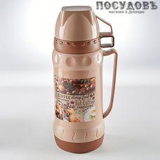 Alpenkok AK-10030S Кофе термос, колба стеклянная 1000 мл, корпус пластик коричневый