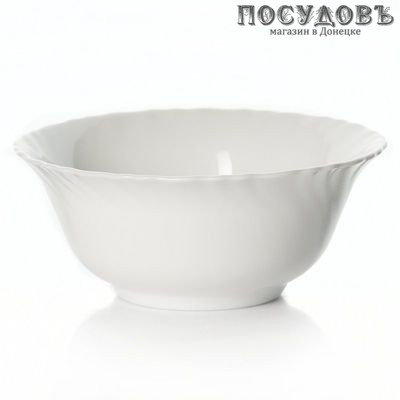 Luminarc Feston h3663/j6335 салатник, стекло упрочненное, цвет белый, Ø120 мм, 300 мл. Страна производитель: Франция. Продается без упаковки.