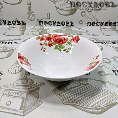 Батлер Вьющаяся роза SW16033 миска, керамика, Ø180×55 мм, 550 мл, Китай