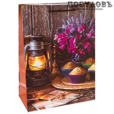 Optima Уютное чаепитие ППД-0103 пакет подарочный ML-220×310×100 мм, бумага, матовая ламинация