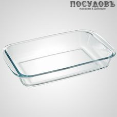 Забава РК-0014 прямоугольная форма для запекания, стекло жаропрочное, 297×177×50 мм, 1500 мл