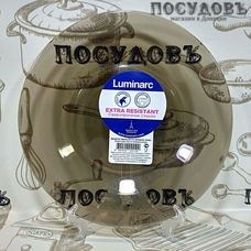 Luminarc Ambiante Eclipse L5087 тарелка десертная, стекло упрочненное, цвет бронзовый, Ø200 мм, Франция, без упаковки 1 шт.