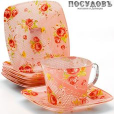 Loraine 24126 набор чайный, стекло термостойкое, в упаковке 12 пр.