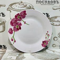 Батлер Орхидеи AL-04 тарелка десертная, керамика, Ø190 мм, Китай, без упаковки 1 шт.
