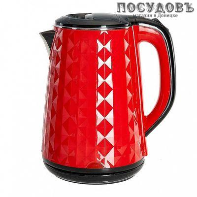 Василиса ВА-1032 электрочайник двойной нержавейка/пластик 2000 Вт 1800 мл