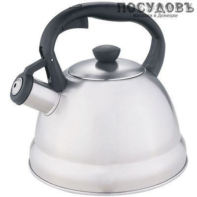 Webber BE-0577 чайник со свистком сталь нержавеющая 2 л
