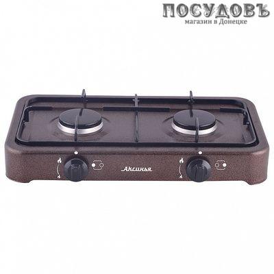 Аксинья КС-106 плита газовая 2-конфорочная, цвет коричневый