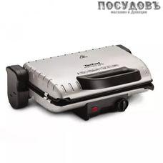 Tefal Minute Grill GC205012 гриль электрический, 1600 Вт, 1 вид сменных пластин, цвет металлик с черным