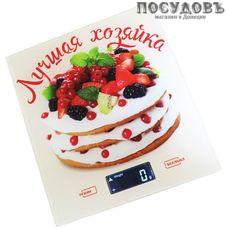 Василиса ВА-006 Лучшая хозяйка весы кухонные-платформа, 200×180×15 мм, до 5 кг, гарантия 1 год